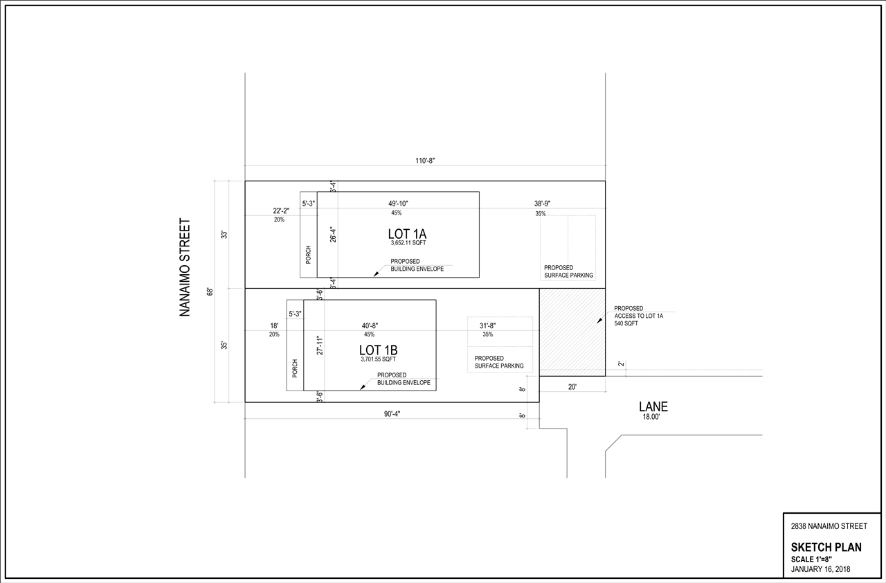 LOT 1B -  2838 NANAIMO #LOT 1B Renfrew VE, Vancouver (R2267597)