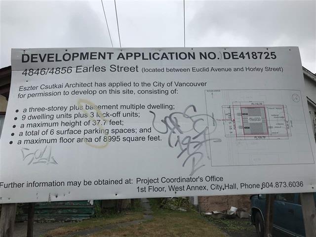 4846-4856 EARLES STREET - Collingwood - Vancouver