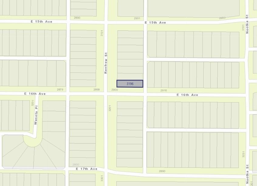 3196 RENFREW STREET, Vancouver