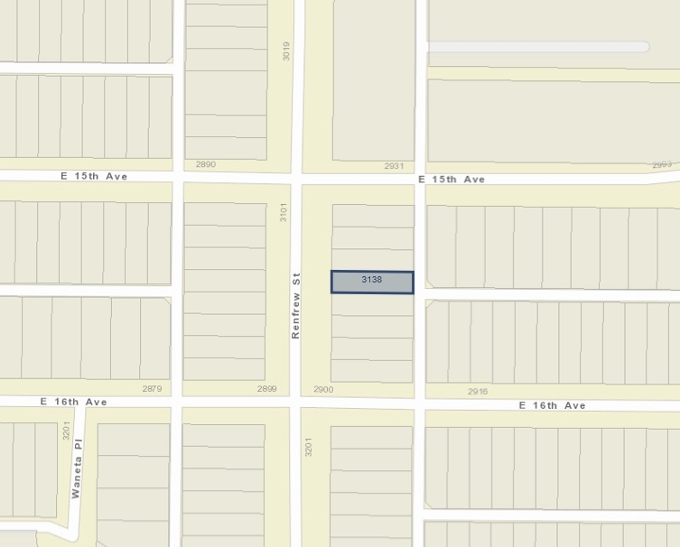 3138 RENFREW STREET, Vancouver