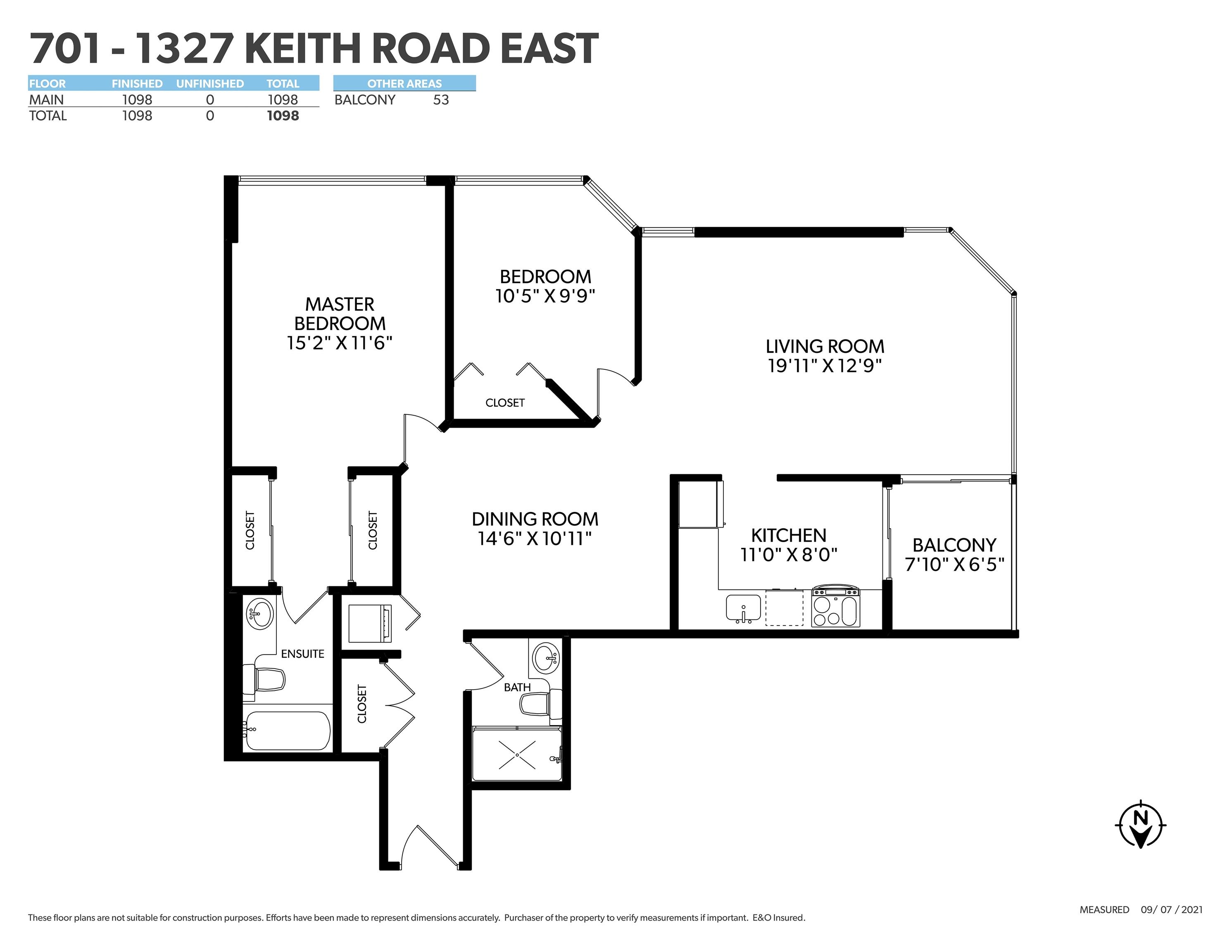 Listing image of 701 1327 E KEITH ROAD