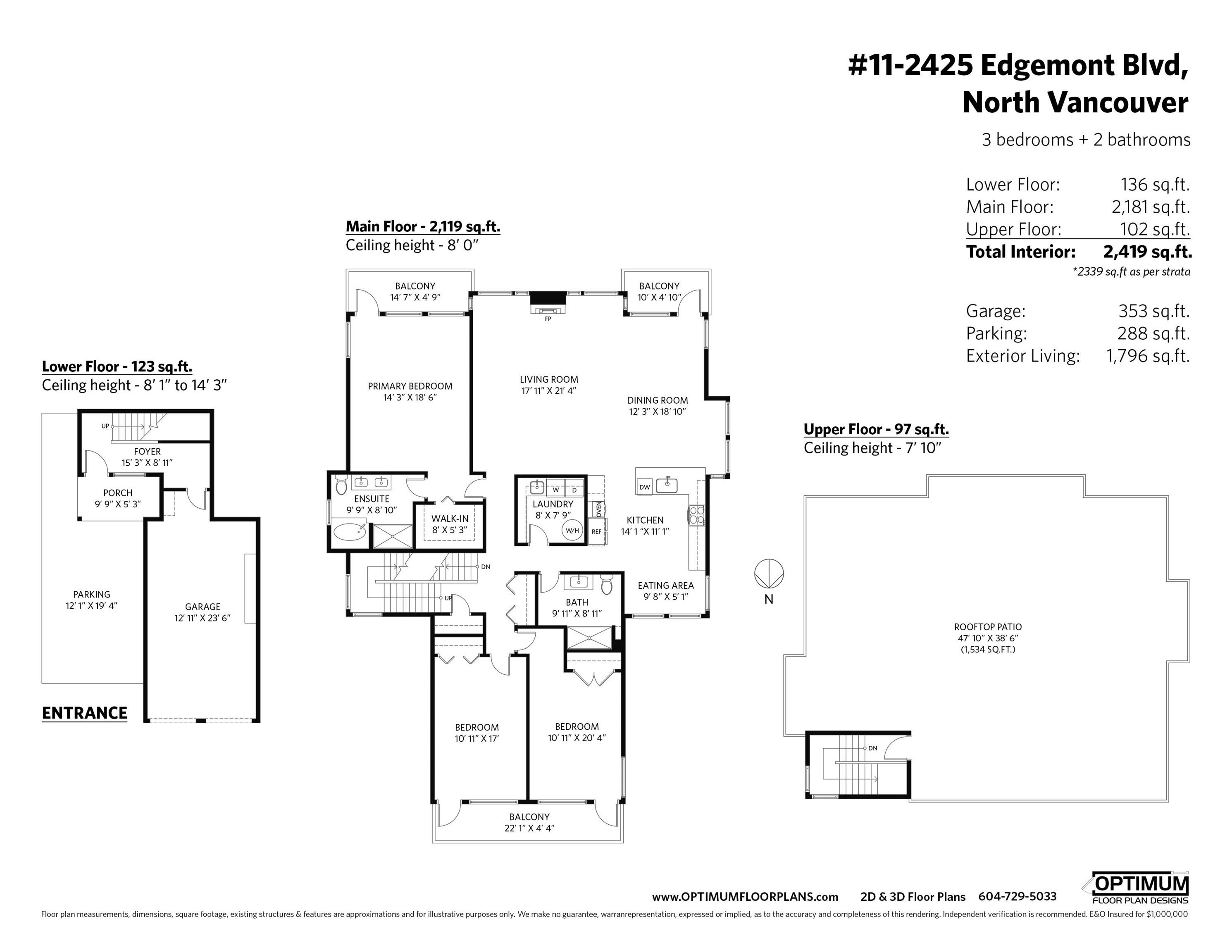 Listing image of 11 2425 EDGEMONT BOULEVARD
